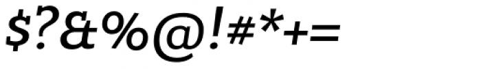 Bandera Cyrillic Medium Italic Font OTHER CHARS