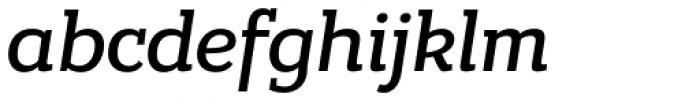 Bandera Cyrillic Medium Italic Font LOWERCASE