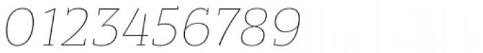 Bandera Cyrillic Thin Italic Font OTHER CHARS