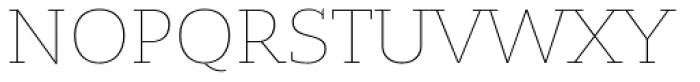Bandera Cyrillic Thin Font UPPERCASE