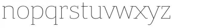 Bandera Cyrillic Thin Font LOWERCASE