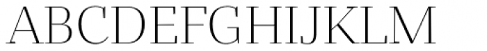 Bandera Display Cyrillic Light Font UPPERCASE
