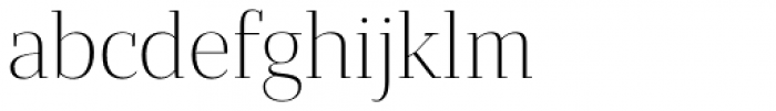 Bandera Display Cyrillic Light Font LOWERCASE