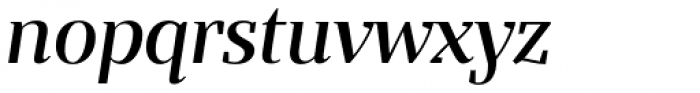 Bandera Display Cyrillic Medium Italic Font LOWERCASE