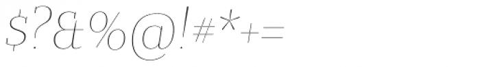 Bandera Display Cyrillic Thin Italic Font OTHER CHARS