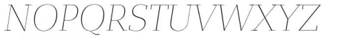 Bandera Display Cyrillic Thin Italic Font UPPERCASE