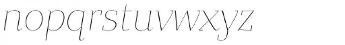 Bandera Display Cyrillic Thin Italic Font LOWERCASE
