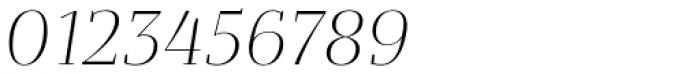 Bandera Display Light Italic Font OTHER CHARS