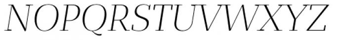 Bandera Display Light Italic Font UPPERCASE