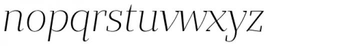 Bandera Display Light Italic Font LOWERCASE