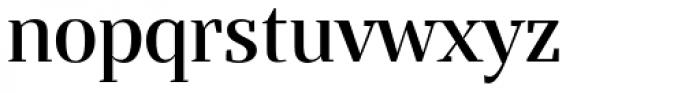 Bandera Display Medium Font LOWERCASE