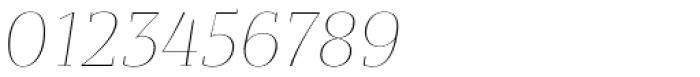 Bandera Display Thin Italic Font OTHER CHARS