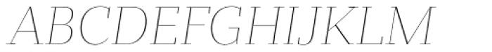 Bandera Display Thin Italic Font UPPERCASE