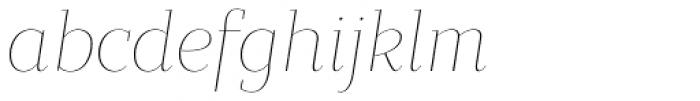 Bandera Display Thin Italic Font LOWERCASE