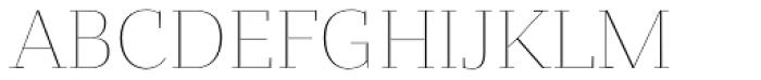 Bandera Display Thin Font UPPERCASE