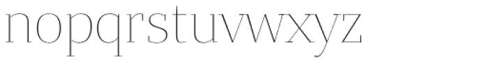 Bandera Display Thin Font LOWERCASE