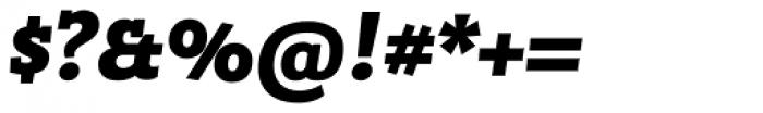 Bandera Heavy Italic Font OTHER CHARS