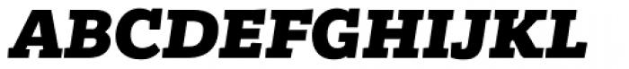 Bandera Heavy Italic Font UPPERCASE