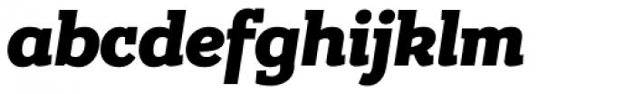 Bandera Heavy Italic Font LOWERCASE