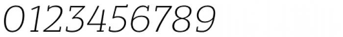 Bandera Light Italic Font OTHER CHARS