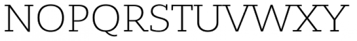 Bandera Light Font UPPERCASE