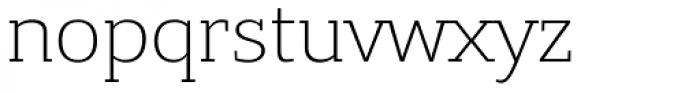 Bandera Light Font LOWERCASE