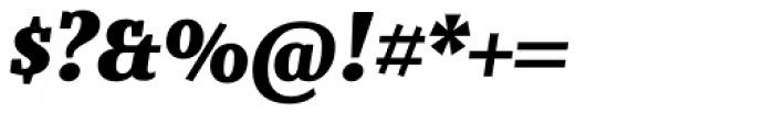 Bandera Text Cyrillic Heavy Italic Font OTHER CHARS