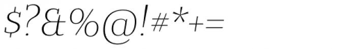 Bandera Text Cyrillic Light Italic Font OTHER CHARS