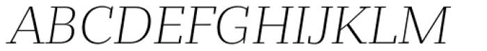 Bandera Text Cyrillic Light Italic Font UPPERCASE