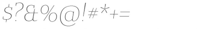 Bandera Text Cyrillic Thin Italic Font OTHER CHARS