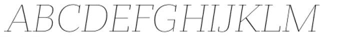 Bandera Text Cyrillic Thin Italic Font UPPERCASE