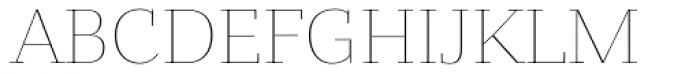 Bandera Text Cyrillic Thin Font UPPERCASE