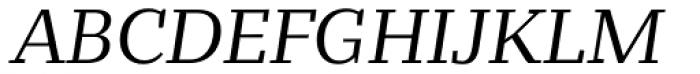 Bandera Text Italic Font UPPERCASE