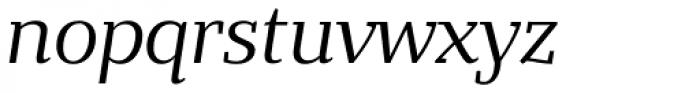 Bandera Text Italic Font LOWERCASE