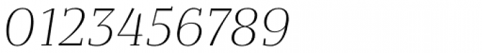 Bandera Text Light Italic Font OTHER CHARS