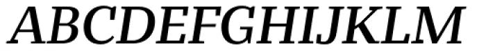 Bandera Text Medium Italic Font UPPERCASE
