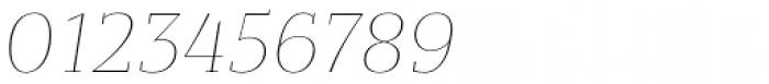 Bandera Text Thin Italic Font OTHER CHARS