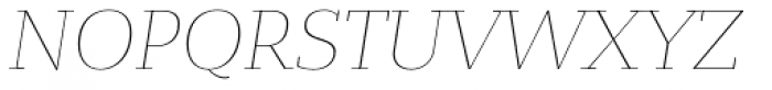 Bandera Text Thin Italic Font UPPERCASE