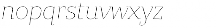 Bandera Text Thin Italic Font LOWERCASE
