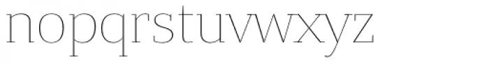 Bandera Text Thin Font LOWERCASE