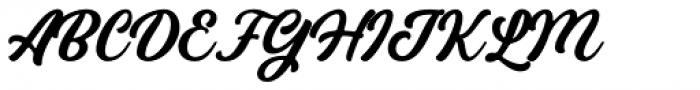 Bandira Script Clean Font UPPERCASE
