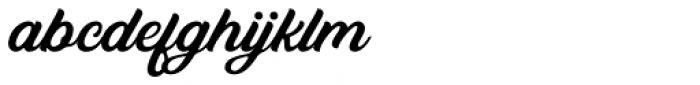 Bandira Script Clean Font LOWERCASE