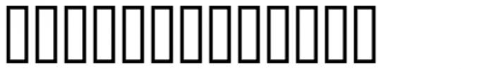 Bank Border A Font LOWERCASE