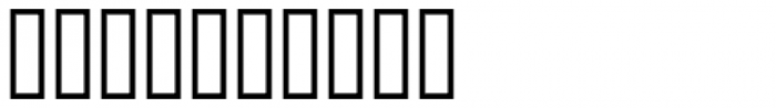 Bank Border D Font OTHER CHARS