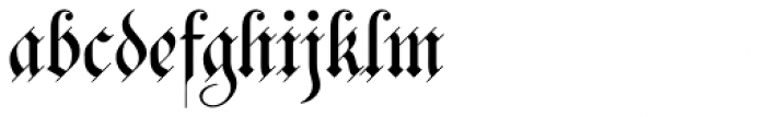 Bank Of England Font LOWERCASE