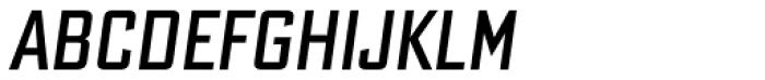 Bank Sans Caps Comp Obl Font UPPERCASE