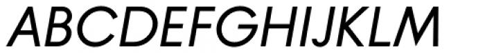 Banks & Miles Single Line Medium Oblique Font UPPERCASE