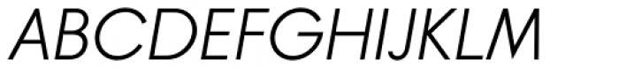 Banks & Miles Single Line Oblique Font UPPERCASE