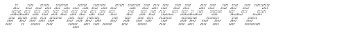 Banner _31_Ultralight_Pixel Font UPPERCASE