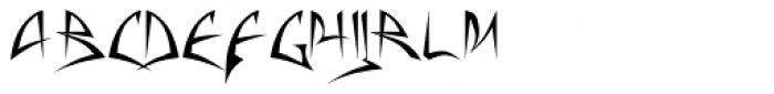 Baphomet Font LOWERCASE